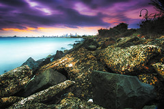 Elwood - Melbourne (amilic) Tags: longexposure water nikon rocks earth australia melbourne nasa universe d800