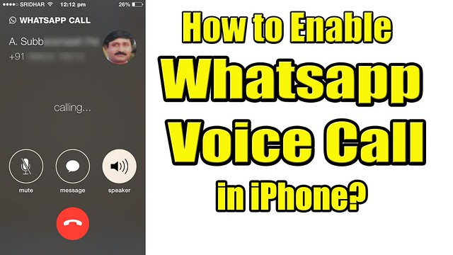 How to Get Whatsapp Call Option in iPhone?