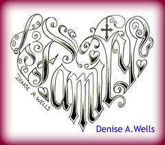 word Family made into a heart shaped tattoo design by Denise A. Wells (♥Denise A. Wells♥) Tags: tattoo tattoodesign hearttattoos tattoodesignsforwomen hearttattoodesigns deniseawells tattoodesignsforgirls detailedtattooscript deniseawellslettering deniseawellsfonts hearttattoodesignsbydenisewells
