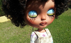 Miranda (Blythelen) Tags: black hair tan curly blythe custom basaak minnalove