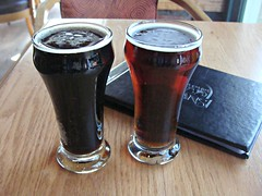 Tasters at Swans (knightbefore_99) Tags: art beer riley restaurant bc cerveza ale craft victoria oatmeal swans scotch brewpub stout pivo taster