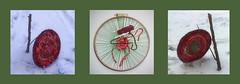 Narrenturm Massaker - Weaving Phantom Pain of Felled Trees Improvisation 14: the 2 little trees which are not allowed to grow - Finished tapestry at the again broken tree / Work in Progress: Weft: dyed cotton, handgefrbte Baumwolle nicht Schafwolle (hedbavny) Tags: vienna wien schnee red snow tree green rot art wool broken thread circle studio austria sketch sterreich kunst diary sketchbook warp yarn cotton improvisation workshop grn garn weaving weave tagebuch baum athene loom tapestry aktion spirale teppich handwerk textileart atelier anleitung kreis arachne procrustes weft webstuhl baumwolle wolle rosine narrenturm werkstatt tapisserie massaker skizze friedemann irrenhaus arbeitsraum kunsthandwerk wandteppich weben schafwolle skizzenbuch handwerkskunst maigrn abgebrochen weavingloom textilkunst webrahmen verstmmelt prokrustesbett prokrustes narrenhaus teppichweber hedbavny ingridhedbavny