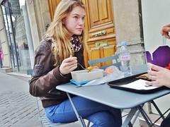 2015-03-28  Paris - Nooï - 50 Boulevard Saint-Michel (P.K. - Paris) Tags: street people mars paris café french march terrace candid terrasse sidewalk 2015