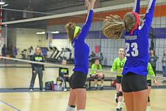 IMG_1114 (SJH Foto) Tags: school girls club high team jump teenagers teens volleyball block tweens
