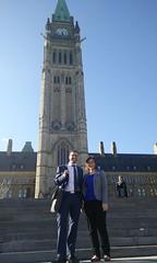Steve & Laura in front of the Peace Tower (m.gifford) Tags: parliament openmedia parliamenthill centreblock billc51 killbillc51