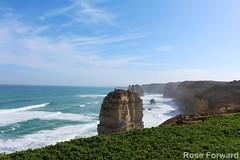 Great Ocean Road (Rose Forward) Tags: ocean sea sunshine canon sand paradise bluesky greatoceanroad 12apostles daytrip sunnyday canonef 700d