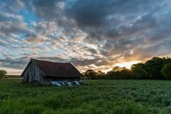 Hütte im Brook (webpinsel) Tags: natur hütte wiese himmel wolken brook landschaft sonnenaufgang münsterland frühling morgendämmerung halternamsee sythen