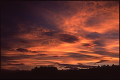 (bensn) Tags: sunset sky orange film japan clouds zeiss evening slide contax carl g2 f2 provia nagano 45mm 100f