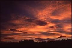 (bensn) Tags: sunset sky orange film japan clouds zeiss evening slide contax carl g2 f2 provia nagano 45mm 100f