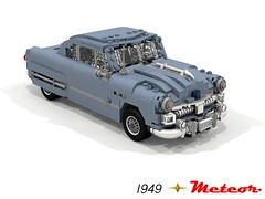 Meteor 1949 V8 Coupe (Canada) (lego911) Tags: auto usa canada classic ford car america model lego render 1940s chrome motor fabulous forties challenge 103 v8 meteor 1949 cad lugnuts povray moc ldd miniland foitsop lego911 thefabulousforties