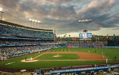Dodger Stadium (NonFace) Tags: sunset sky sports clouds losangeles sony ballpark rx100m3