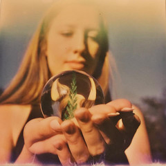 Mystic Maiden (Britt Grimm) Tags: film polaroid sx70 spring girly lightleak instant psychic fortuneteller maiden polaroid600 mystic springtime crystalball instantphotography polaroidsx70 fawna instantfilm neutraldensityfilter filmisnotdead mysticmaiden impossibleproject snapitseeit