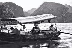 Vietnamese Fishermen (tj.blackwell) Tags: halongbay vietnam seascape ocean sea travel world life scenery beautiful fareast cruise karst geology limestone boat ctb mountains tourism cmph vnn
