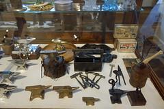 Tiny Anvils & Tools (Heath & the B.L.T. boys) Tags: california metal fake tools stump ironwork blacksmith anvil