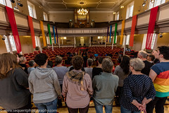 Loud and Proud Choir 2016 -91 (Philip Gillespie) Tags: pink blue gay girls people orange white black men green church boys yellow proud choir contrast canon lesbian happy prime scotland hall concert women edinburgh colours singing smiles transgender event sing bisexual loud songs anthems craigie balleds loudproudchoir craigiechoir