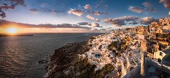 Oia Sunset (hpd-fotografy) Tags: light sunset sea sky panorama sun seascape water landscape europe aegean hellas santorini greece caldera oia goldenhour