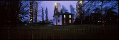 A4, Brentford, London, TW8 (tonywright617) Tags: london 120 film architecture mediumformat panoramic analogue e6 fujica brentford longexp g617 carvillehall
