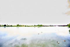 Neckar bei Ladenburg (rainerneumann831) Tags: landschaft neckar aquarell berbelichtet ladenburg unschrfe