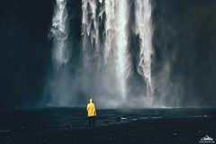 Waterfall freshness (Oleh Slobodeniuk) Tags: travel blue lake color film water yellow rock landscape waterfall iceland spring walk sony grain tranquility seljalandfoss vsco