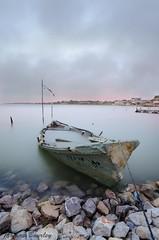 Lac de Prols (tbourley) Tags: lake de long exposure lac montpellier shipwreck cannot barque hrault pave prols