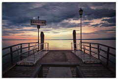 Waiting for a ferry (.Wadders) Tags: sunset italy water clouds pier ngc lakegarda bardolino 2016 d600 nikkor1635mmf4 nikonfxshowcase