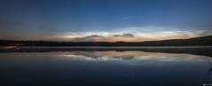 Noctilucent Clouds in the mirror (wortschnipsel) Tags: lake night clouds germany deutschland mirror shine nacht brandenburg noctilucent grubensee wortschnipsel