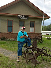 Ali at Mound City Museum, Photo by CRudin (ali eminov) Tags: architecture buildings ali machinery missouri museums implements farmmachinery moundcity moundcitymuseum