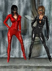 30 (SoakinJo) Tags: leather catsuit pvc balletheels wetlook wetclothes imvu
