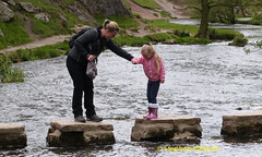 Stepping stones Dovedale (stephenwebster2) Tags: river stones derbyshire daughter mother stepping care dovedale