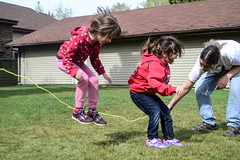 Jump Rope Fun (Vegan Butterfly) Tags: friends people playing kids children fun outside jump jumping play friendship outdoor rope together skip skipping