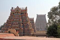 Sur la terrasse du temple (Chemose) Tags: india architecture canon temple eos terrace january terrasse 7d hindu hinduism janvier tamilnadu inde southindia trichy gopuram hindouisme hindou tiruchirapalli ranganathaswamy sriranganathaswamy indedusud vischnu vischnou