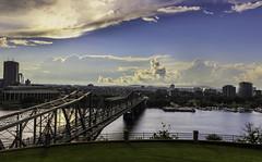 The Connection (Jaggy89) Tags: bridge sky ontario canada beautiful clouds river quebec steel ottawa gatineau ottawariver alexandrabridge explorecanada provincialbridge