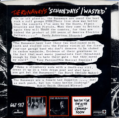 The Runaways - Wasted (Betapix) Tags: wasted picture 45 cover single record runaways the
