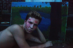 Cursing my Name (Anton Redding) Tags: gay summer portrait guy tattoo painting scary blood pennsylvania name makeup gore horror anton stoop fx scar redding cursing scars allentown instagram