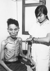 """""""The effects of just one month spent in a Viet Cong prison camp show on 23-year-old Le Van Than, who had defected from the Communist forces and joined the Government side, was recaptured by the Viet Cong and deliberately starved"""", 1966 [2031  2858] #Hist (Histolines) Tags: history 1966 retro timeline  vinatage 2031 2858 historyporn histolines theeffectsofjustonemonthspentinavietcongprisoncampshowon23yearoldlevanthanwhohaddefectedfromthecommunistforcesandjoinedthegovernmentsidewasrecapturedbythevietconganddeliberatelystarved httpifttt1sfrzrg"""