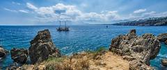 Antalya Impression#1 (Sean X. Liu) Tags: antalya sea seascape mountain haze rocks boat turkey