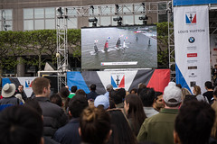 America's Cup World Series NYC (Scoboco) Tags: americascup batteryparkcity louisvuitton americascupraces brookfieldplaza hydrofoilcatamaran americascupnyc