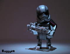 Chibi Phasma Dark (buggyirk) Tags: cute brick star force lego chibi helmet disney captain figure wars built the moc afol awakens phasma brickbuilt buggyirk