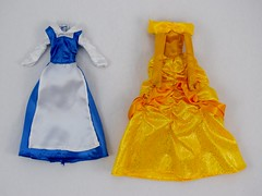 Beauty and the Beast Deluxe Doll Set - US Disney Store Purchase - Deboxed - Belle's Blue and Yellow Outfits - Front View (drj1828) Tags: disneystore purchase doll dollset deluxe beautyandthebeast belle outfit ballgown accessory deboxed peasant blue yellow