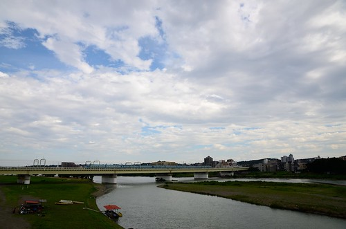 Odakyu Romancecar MSE on Bridge across the Tama River in 2015 July: 5