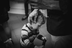 Father's hand (lurantol) Tags: family boy white black cute love monochrome beauty kids children sadness kid child documentary