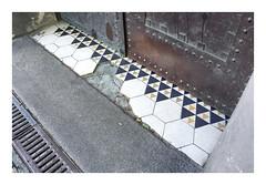 Hex (Goran Patlejch) Tags: secession secese karlin ceramic tiles dlaba geometry triangle simple art artnouveau entrance door pavement patlejch patlejh goenetix gntx hexagon hexagonal pattern