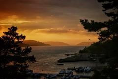Tjme on its most beautiful. (Anette Espolin Storo Dahl) Tags: ocean sunset sky cloud yellow norway golden time himmel hour fjord hav solnedgang tjme gyldne