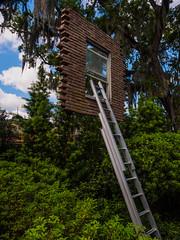Sculpture garden-10 (uxbobham) Tags: sculpture art window neworleans sculpturegarden suspendedwindow
