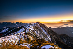 Sunset Mt. Hehuan (JIMI_lin) Tags: sunset snow taiwan      hehuanmountain