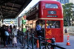 Transport Heritage NSW, queuing for the vintage bus at  Sydney Central Railway Station (john cowper) Tags: buses vintage sydney newsouthwales 2016 centralrailwaystation transportheritagensw heritagetransportexpo