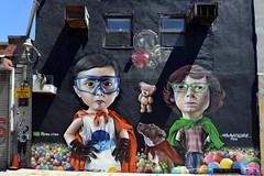 Bushwick Street Art (Eddie C3) Tags: newyorkcity streetart art catchycolors balloons murals bushwick streetscenes caricatures wallmurals bushwickbrooklyn sipros bushwickcollective arasolart siprossipros siprosnaberezny wellingtonnabereznysipros