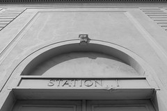 Station I (Michael Dunn~!) Tags: sanfrancisco bw building streetphotography doorway soma southofmarket streetfoto photowalking photowalking20160608