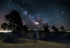 Is there anybody out there? (Vagelis Pikoulas) Tags: trees summer mountain mountains tree june night canon way stars landscape star europe view nightscape darkness tokina mount greece porto galaxy milky selfshot milkyway selfie 6d 2016 vilia germeno 1628mm