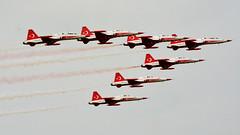 Turkish stars (bva_fotografie) Tags: airplane planes airshow rnlaf luchtmachtdagen jsf f35 eurofighter saabgrippen mig redarrows freccetricolori ah64 turkishstars spitfire f16